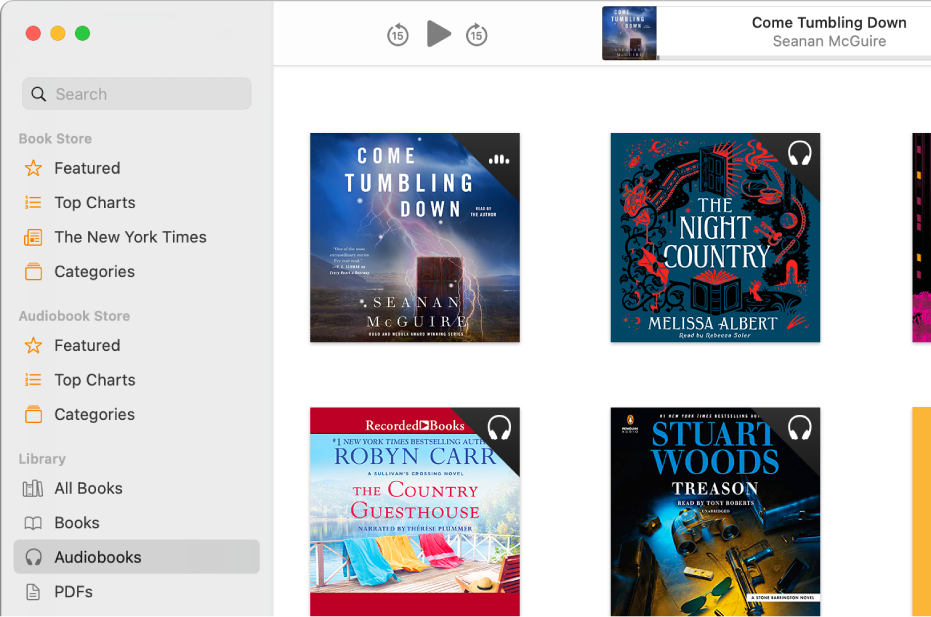 The audiobook player.