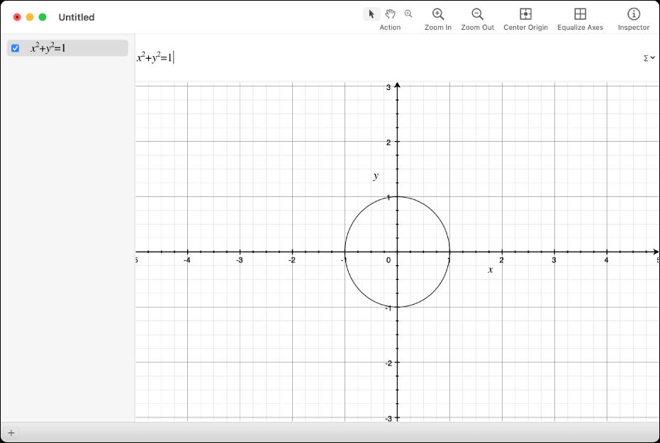 Gleichung und Graph eines Kreises