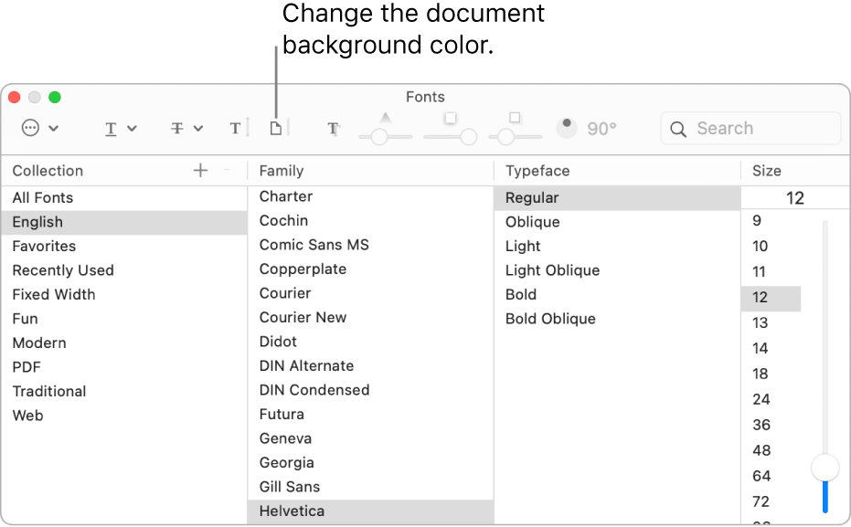 Change the background color of your document.
