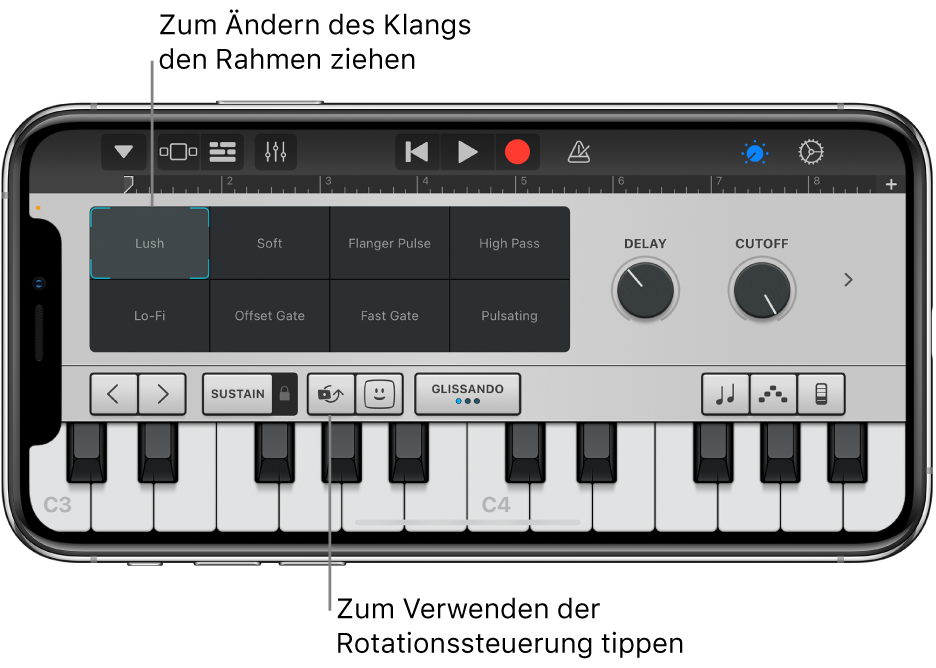 """Touch-Instrument """"Keyboard"""""""