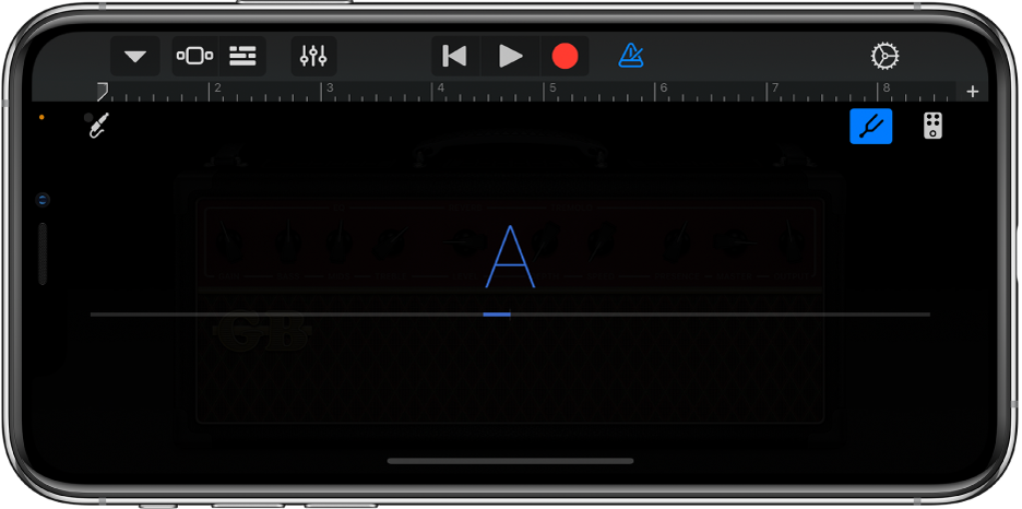 Stimmgerät des Gitarren-Amp