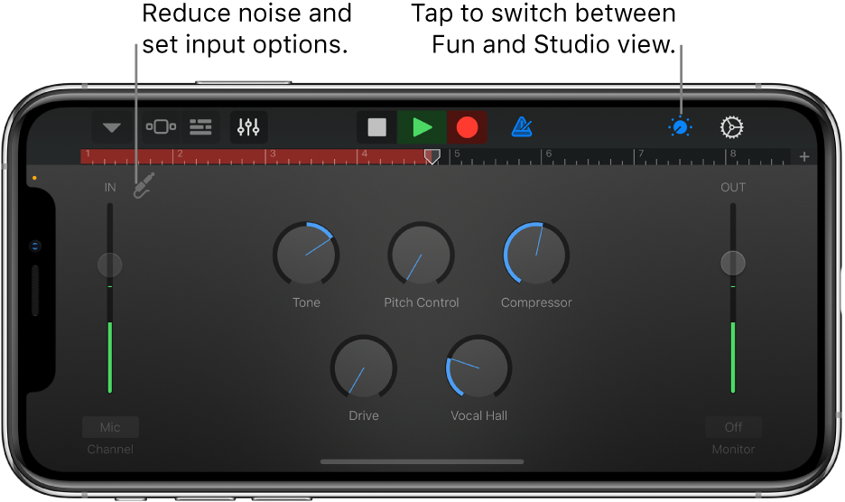 Audio Recorder Studio View