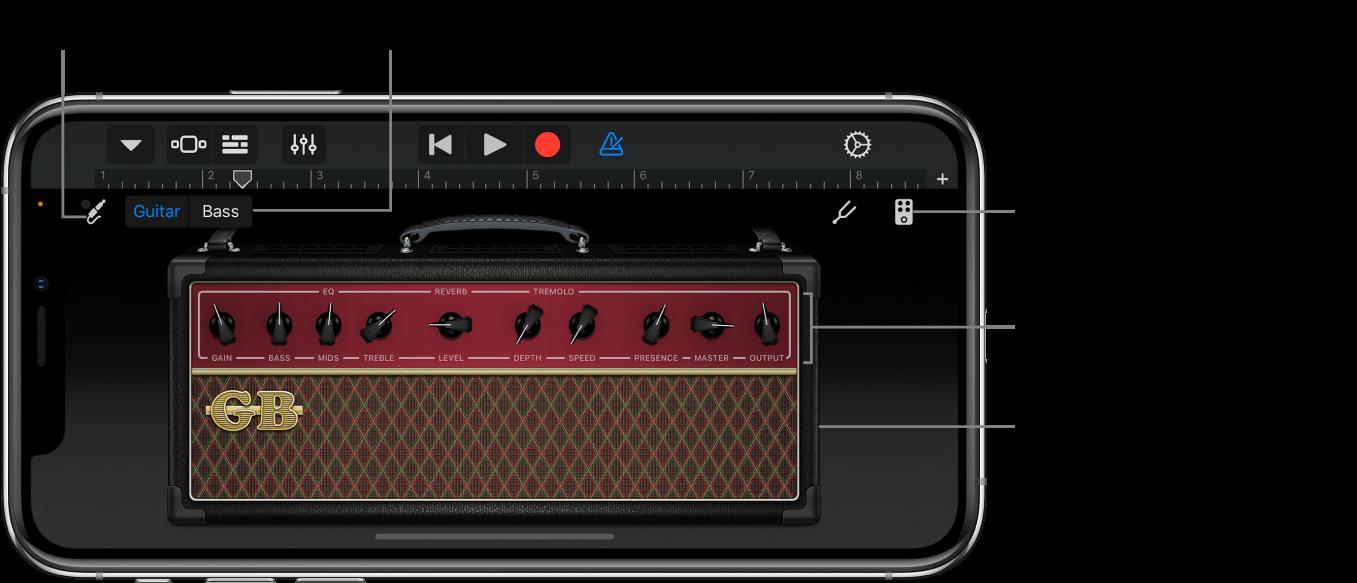 Instrumento táctil Amplificador de guitarra