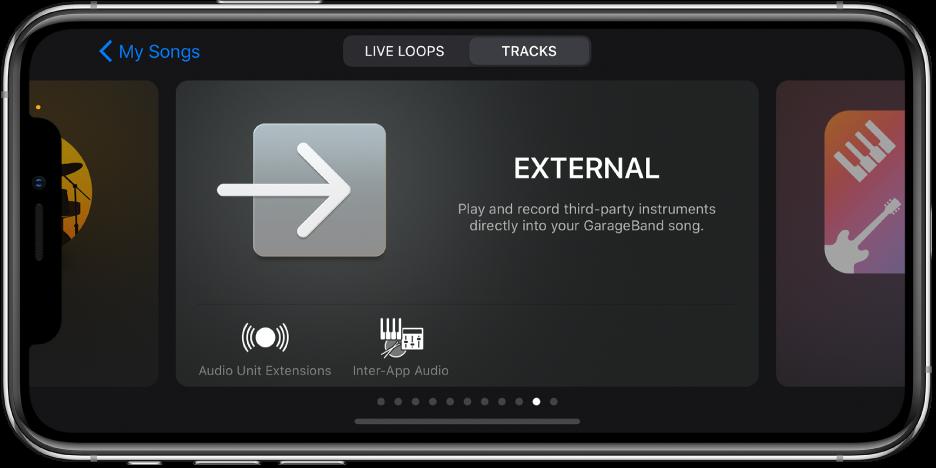 Illustration. Navigateur de sons affichant des extensions AudioUnits.