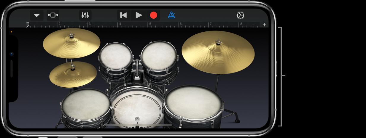 Touch-instrumentet Drummer