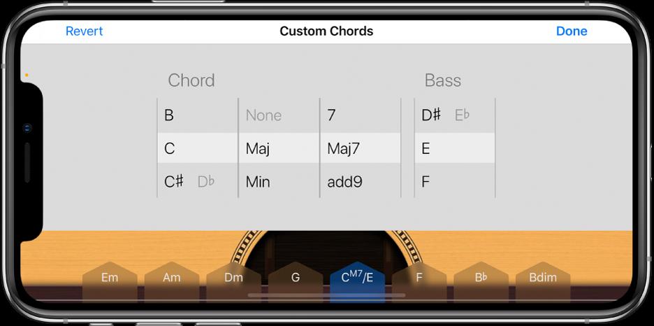 Kontrollhjul for tilpassede akkorder