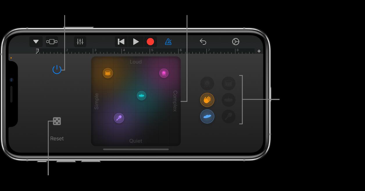 Touch-instrumentet Smart Drums