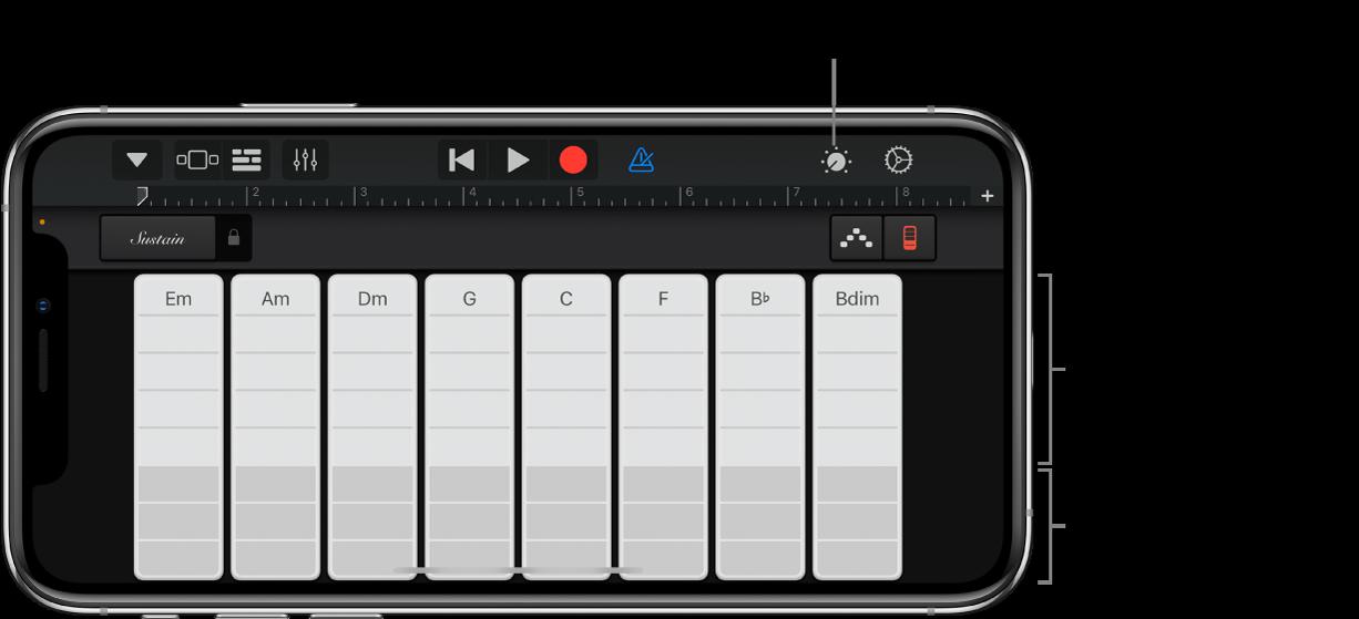 Keyboardakkordstriper