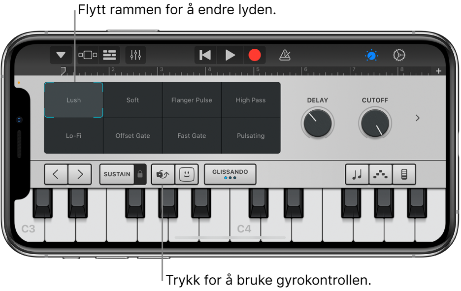 Touch-instrumentet Keyboard