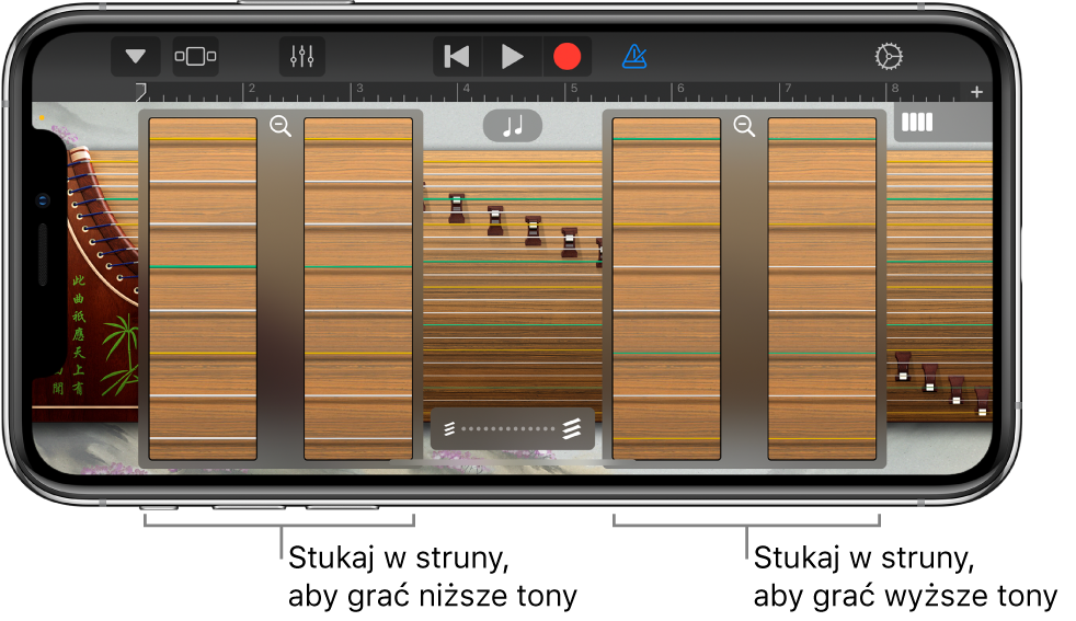 Pola powiększenia instrumentu guzheng