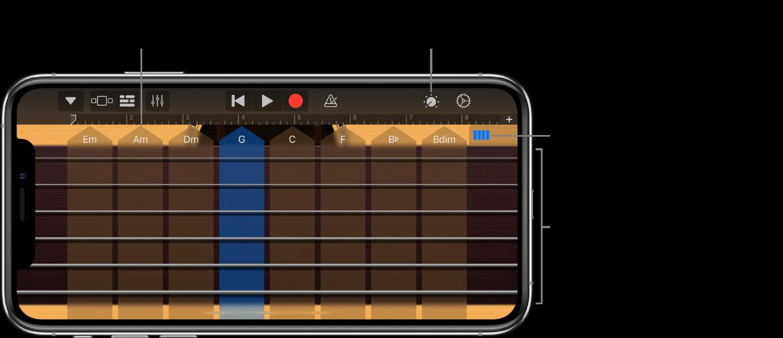 Instrument dotykowy Gitara