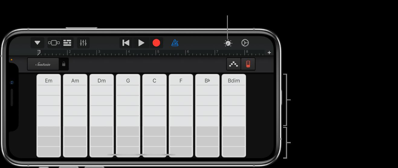 Barras de acordes do teclado