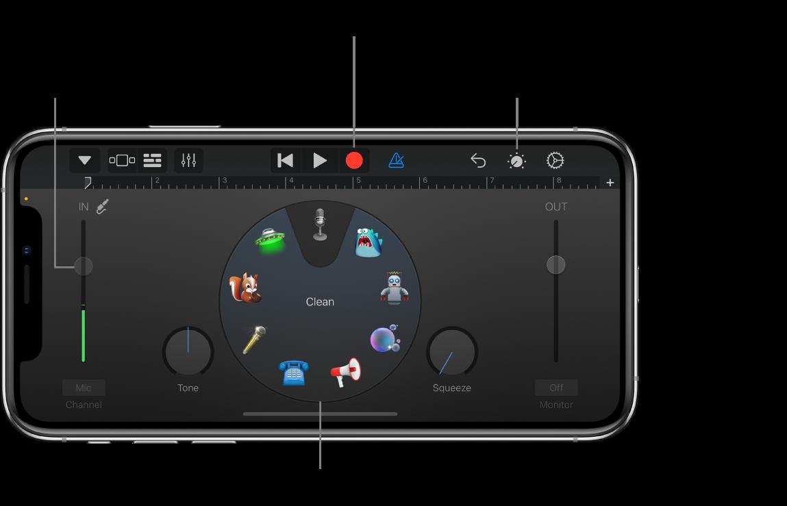 Instrumento Touch Gravador de Áudio