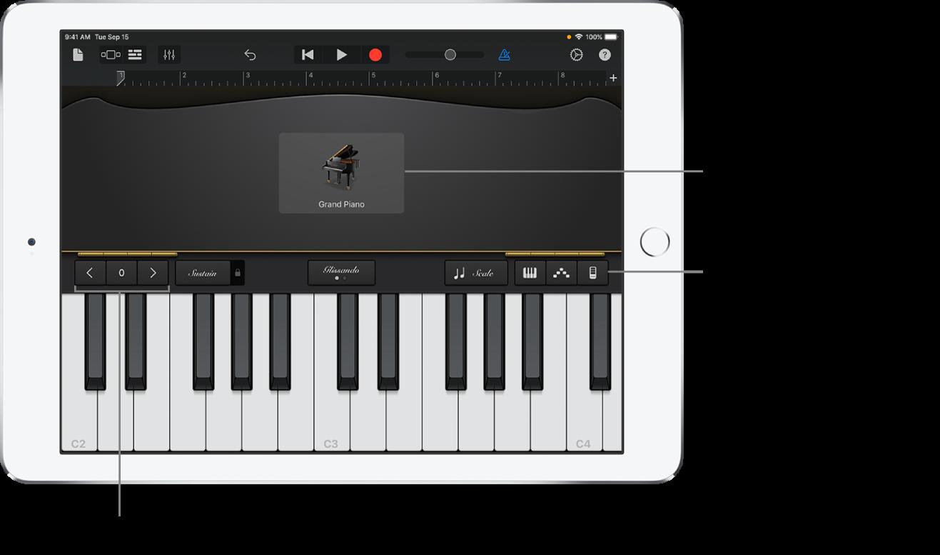 Spielen Des Keyboards In Garageband Fur Das Ipad Apple Support