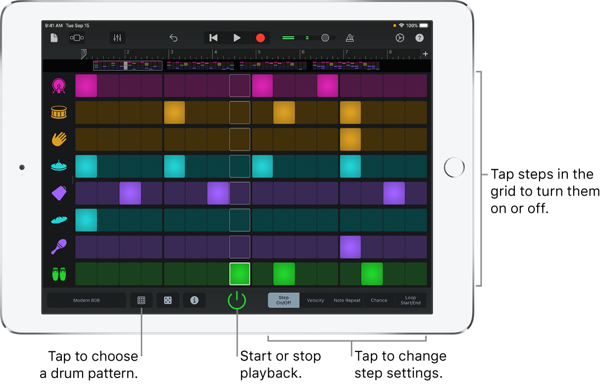 Beat Sequencer Touch Instrument