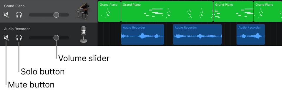 Use The Track Headers In Garageband For Ipad Apple Support