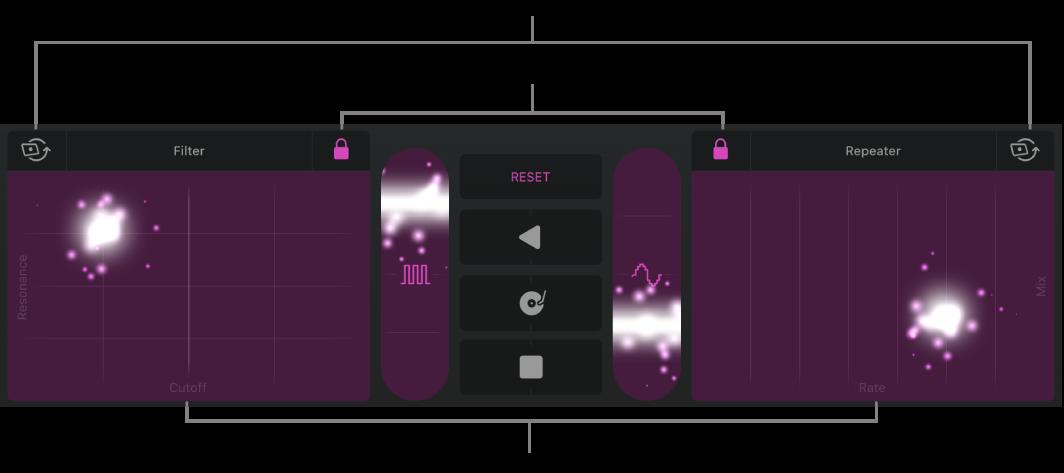Figure. Tracks area showing Remix FX.