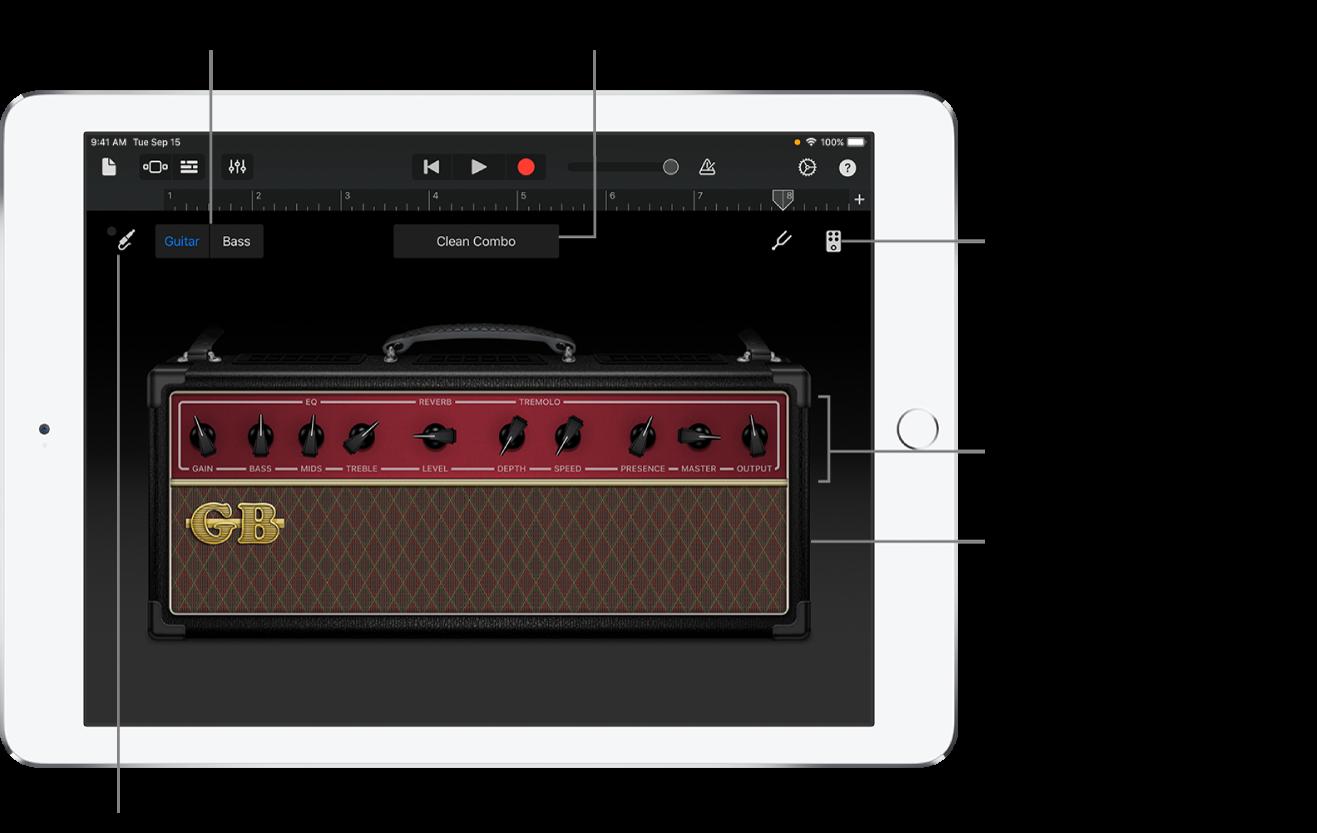 Instrument tactile Ampli de guitare