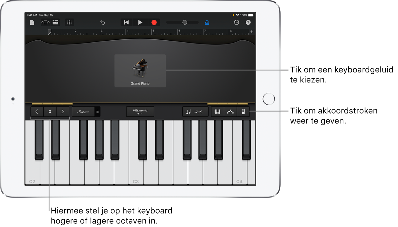 Touch-instrument Keyboard