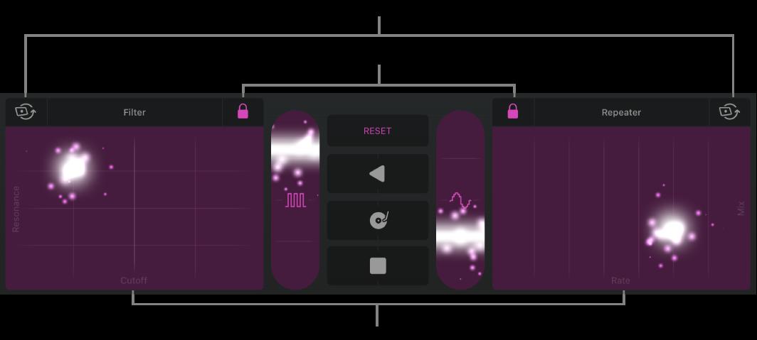 Figura. Área de trilhas mostrando os Efeitos de Remix.