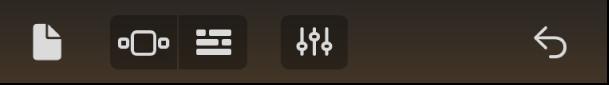 barra de controlo - lado esquerdo