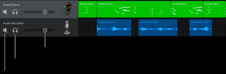 開啟音軌標題並顯示控制項目