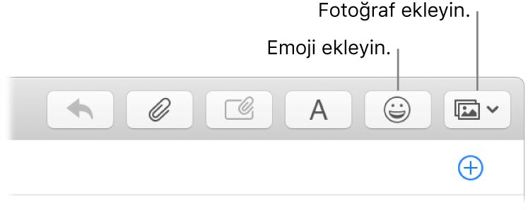 Emoji ve fotoğraf düğmelerini gösteren bir Oluştur penceresi.