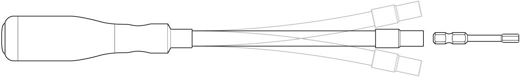 Flexibler Schraubendreher.