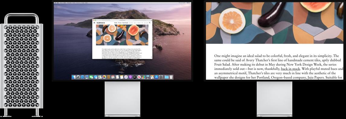 """La función """"Pantalla de zoom"""" está activa en la pantalla secundaria, mientras que en la pantalla izquierda el tamaño se mantiene fijo."""