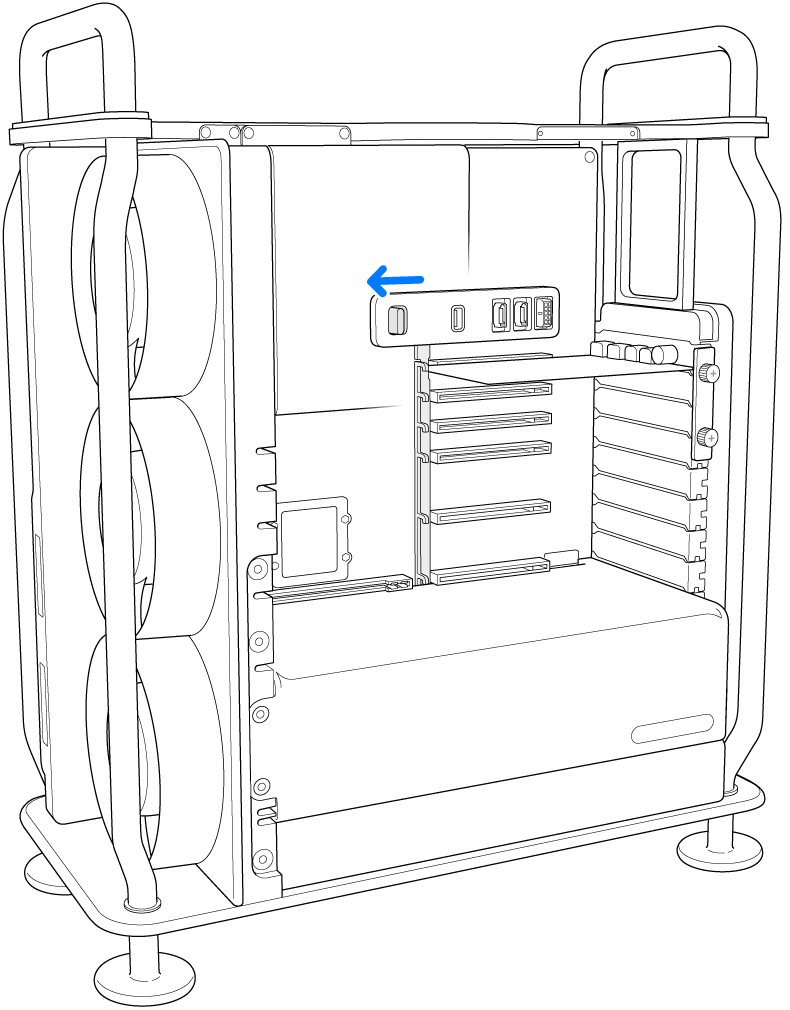 Dispositif de verrouillage glissé vers la gauche.