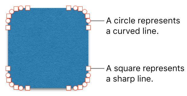A shape with editable points.
