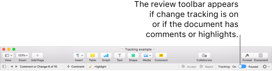 Track changes in Pages on Mac - Apple Support