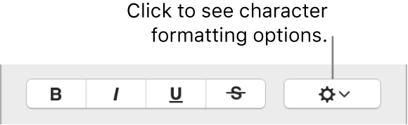The Advanced Options tickbox next to Bold, Italic and Underline buttons.