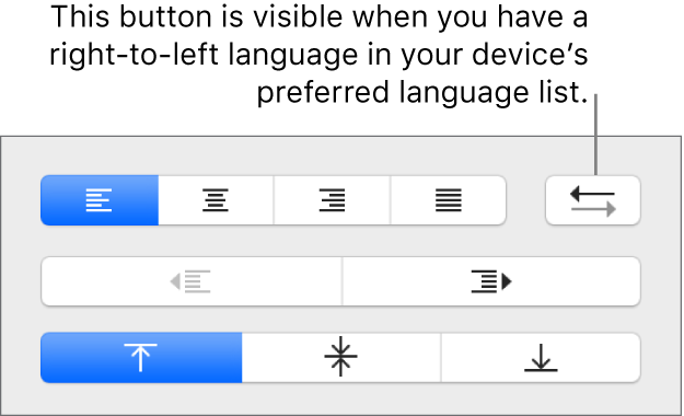 The paragraph direction button next to paragraph alignment buttons.