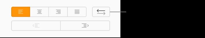 O botão Direção do texto na barra lateral Formatar.