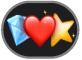 el botón Stickers de Emoji