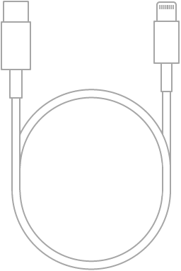 Le câble USB-C vers Lightning.