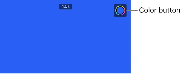 The viewer showing a solid blue background and the Color button in the upper right.
