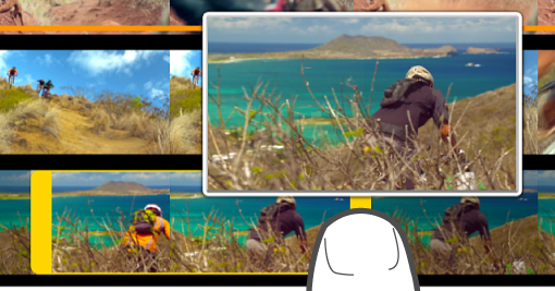 Recorte de un clip en el explorador multimedia.