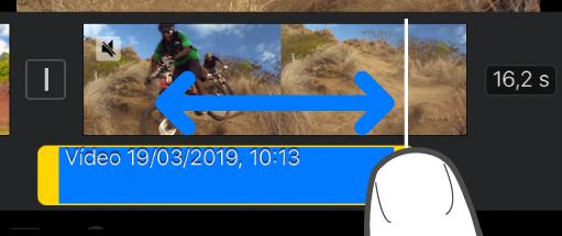 Um clip de áudio a ser encurtado no cronograma do projeto.