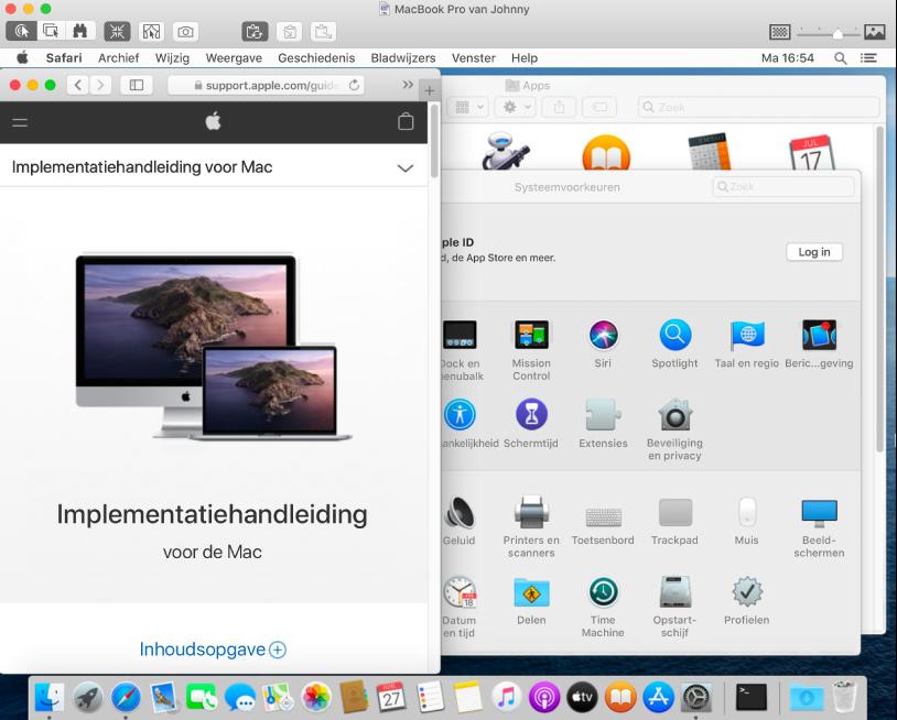 U kunt meerdere schermen bekijken en ze een voor een besturen.