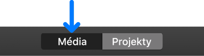 Tlačítko Média na nástrojovém panelu