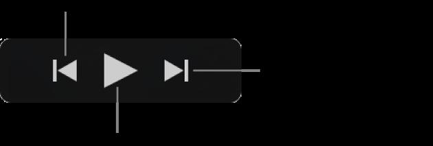 Χειριστήρια αναπαραγωγής παραθύρου «Εισαγωγή»