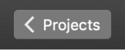 Projects back button in toolbar