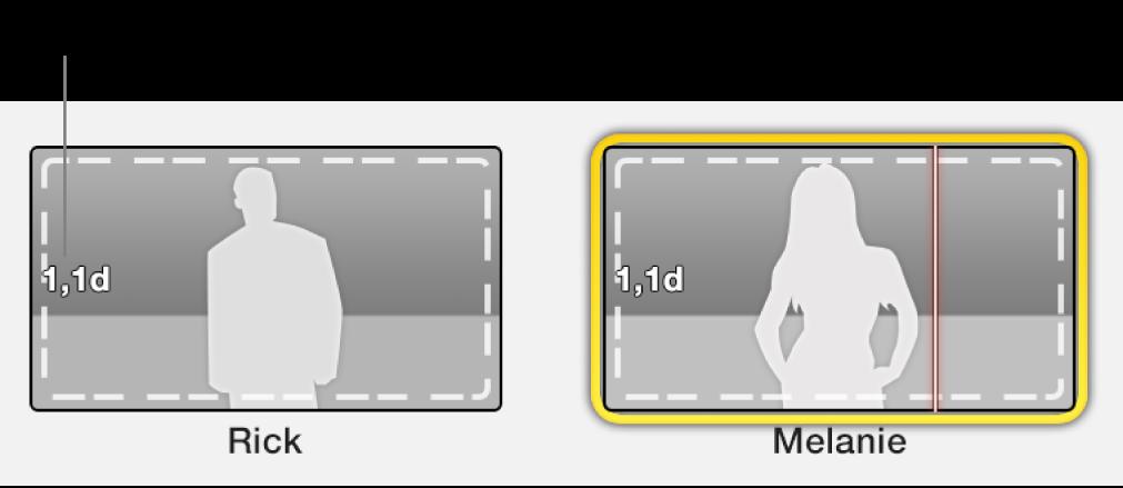 Placeholder trailer dengan tanda waktu menunjukkan panjang video yang diperlukan