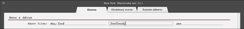 Zadávanie textu na paneli Náčrt upútavky