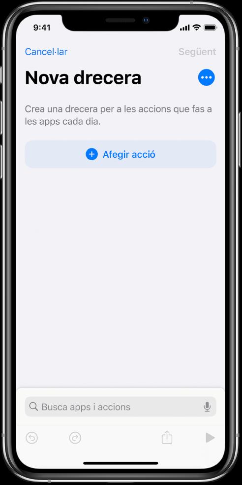 Editor de dreceres buit a l'iPhone.