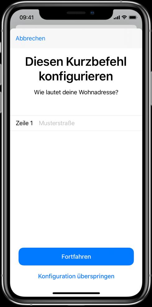 """Importfrage des Kurzbefehls """"Home ETA""""."""
