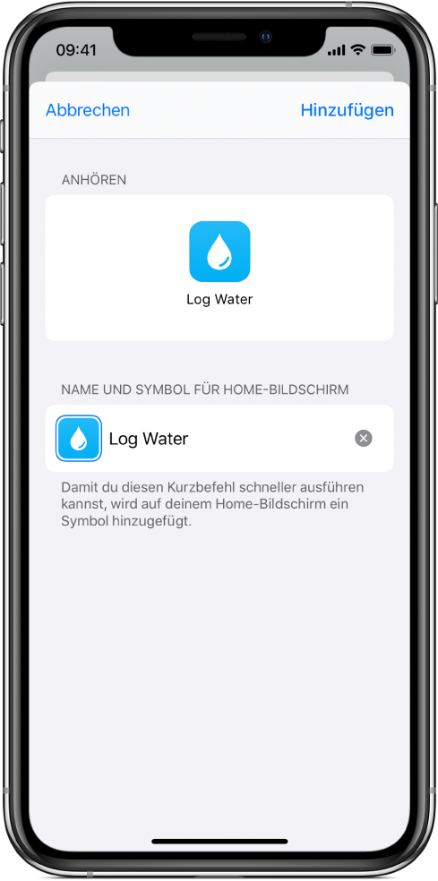 """Die App """"Safari"""" mit der Taste """"Zum Home-Bildschirm""""."""