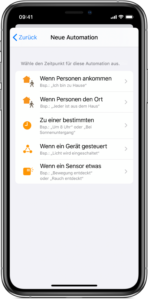 """Home-Automation in der App """"Kurzbefehle""""."""